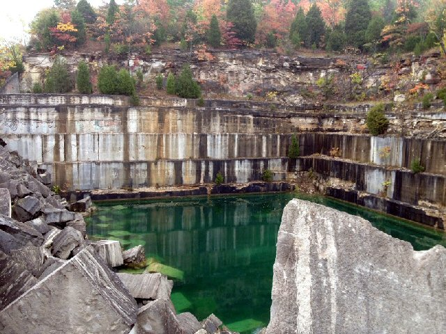 Fall Quarry Scene