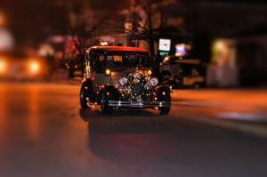Christmas Parade Antique Car 12-6-14